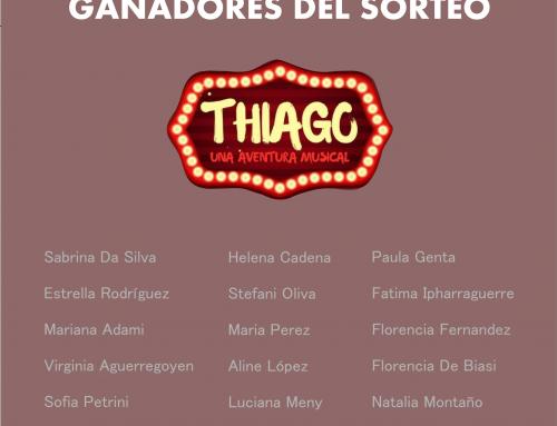 Estas son las ganadoras del sorteo para Thiago
